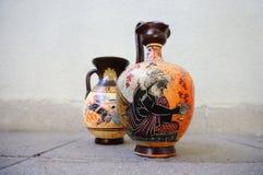 Floreros griegos de cerámica Imagen de archivo