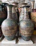 Floreros hechos de la arcilla Imagen de archivo libre de regalías
