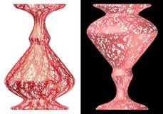 Floreros texturizados extracto Fotos de archivo libres de regalías