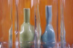 Floreros torcidos Imagen de archivo libre de regalías