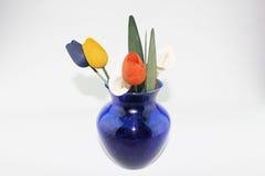 Floreros y tulipán Imagen de archivo libre de regalías