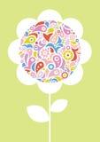Floresça com semente ornamentado ilustração do vetor