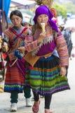 Floresça a mulher de Hmong com gelado, Bac Ha Imagens de Stock