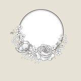 Floresça o frame Beira floral cor-de-rosa Fundo do Flourish ilustração royalty free