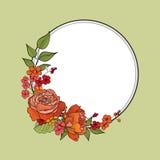 Floresça o frame Beira floral cor-de-rosa Fundo do flourish do vintage no vict ilustração stock
