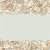 Floresça o frame Beira sem emenda floral Flourish do vintage textured ilustração stock
