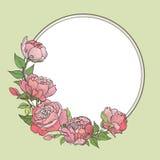 Floresça o frame Fundo floral do vintage ilustração stock