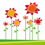 Flores 01 (vector) ilustración del vector