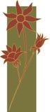 Flores 2 da flanela Imagem de Stock Royalty Free