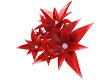 flores 3d stock de ilustración