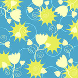 Flores abstractas ilustración del vector