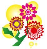 Flores abstractas adornadas - ejemplo del vector Fotos de archivo libres de regalías