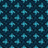 Flores abstractas azules en el ejemplo inconsútil del modelo del fondo oscuro libre illustration