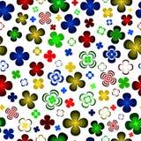 Flores abstractas coloreadas en un fondo blanco Ilustración del Vector