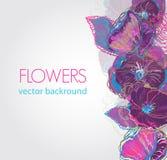 Flores abstractas de la acuarela Fotografía de archivo libre de regalías