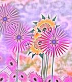 Flores abstractas del resorte Imágenes de archivo libres de regalías