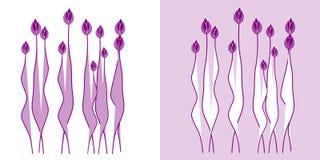 Flores abstractas en fondo. foto de archivo libre de regalías