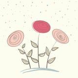 Flores abstractas en fondo suave Fotos de archivo libres de regalías