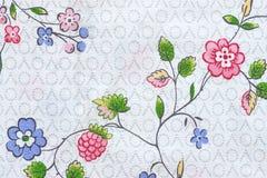 Flores abstractas en tela de materia textil Imagen de archivo