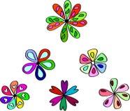 Flores abstractas Ilustración Fotos de archivo libres de regalías
