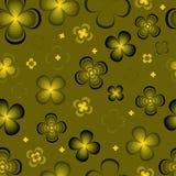 Flores abstractas monocromáticas Ilustración del Vector