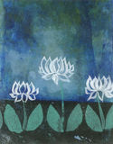 Flores abstractos del loto Imagen de archivo
