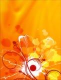 Flores abstratas Imagens de Stock