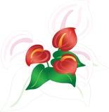 Flores abstratas ilustração royalty free