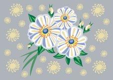 Flores abstratas com fundo Imagens de Stock