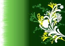 Flores abstratas com fundo Imagem de Stock Royalty Free
