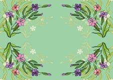Flores abstratas com fundo Fotos de Stock