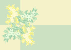 Flores abstratas com fundo Fotografia de Stock Royalty Free