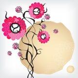 Flores abstratas cor-de-rosa ilustração royalty free