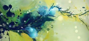 Flores abstratas da aquarela ilustração royalty free