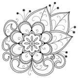 flores abstratas desenhadas mão Imagens de Stock Royalty Free