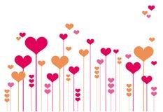 Flores abstratas do coração ilustração do vetor