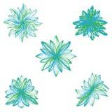 Flores abstratas do vetor no fundo branco. Fotos de Stock Royalty Free