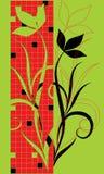 Flores abstratas em um fundo quadrado. Ilustração Royalty Free