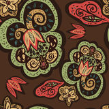 Flores abstratas no estilo oriental ilustração do vetor
