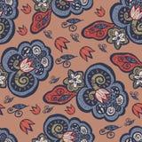 Flores abstratas no estilo oriental ilustração royalty free
