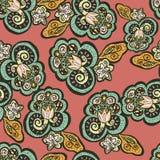 Flores abstratas no estilo oriental ilustração stock