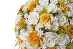 Flores alaranjadas e brancas Fotos de Stock Royalty Free