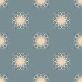 Flores alaranjadas pasteis no teste padrão sem emenda do fundo azul empoeirado Imagens de Stock
