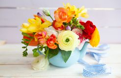 Flores alegres brilhantes da mola fotografia de stock royalty free