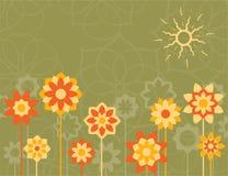 Flores amarelas ilustração stock