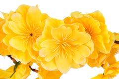 Flores amarelas artificiais Imagens de Stock