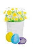 Flores amarelas da aquarela Imagem de Stock Royalty Free