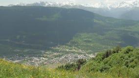 Flores amarelas nas montanhas, Mestia, Geórgia filme