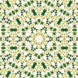 Flores amarillas de la mandala de la plantilla abstracta del diseño stock de ilustración