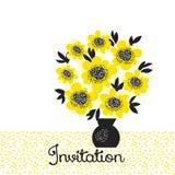 Flores amarillas ingenuas de la camelia del extracto del color Fotografía de archivo